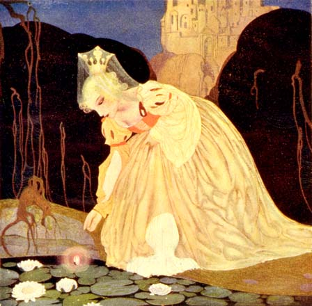 The princess finds her frog prince, by Gustaf Tenggren
