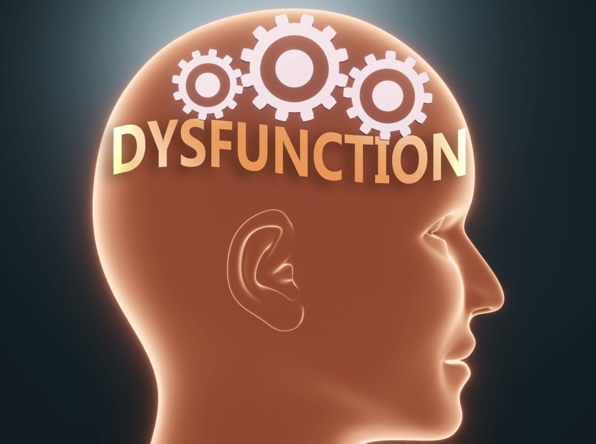 """""""brain with word dysfunctional"""""""