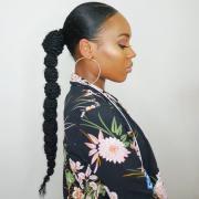 ponytail hairstyles black
