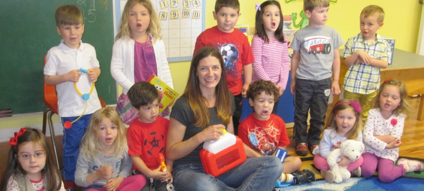 Child Life Specialist Visits a Preschool