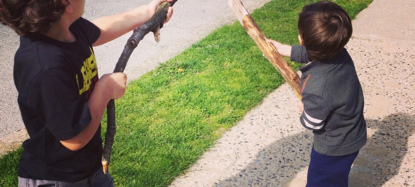 Pretending a stick was a gun, was my parenting fail? Really?