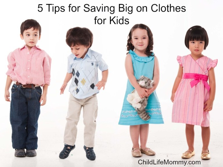 5 Tips for Saving Big on Clothes for Kids
