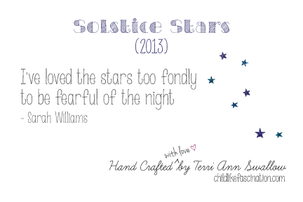 Solstice Star Quilt Label Design