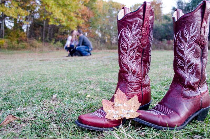 Chris & Katie Engagement Cowboy Boot