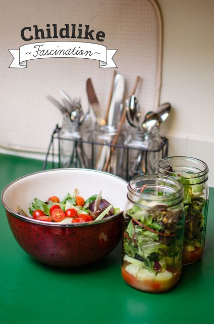 Salad ahead - planning and making salads ahead of time