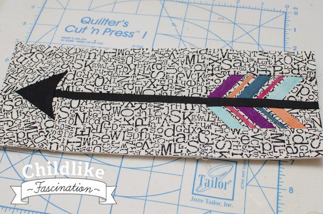 Finished Broken Feather Arrow Paper Piece Block