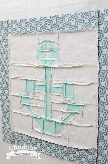 Back of the anchor quilt block