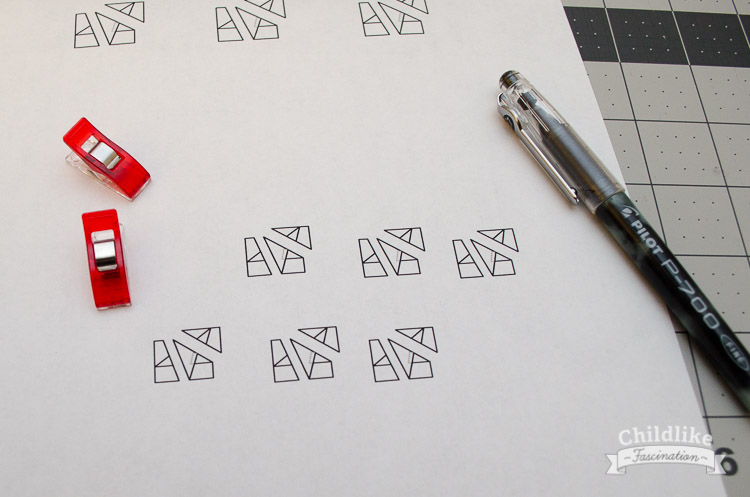 Mini star paper piece templates - can you believe how little these are??