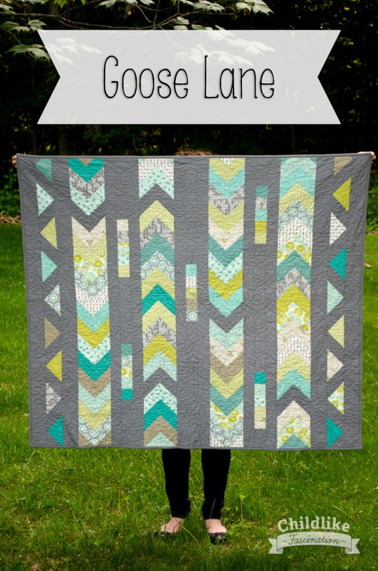 Goose Lane Quilt by Terri Ann of Childlike Fascination - A Fun Flying Geese & Fat Quarter Friendly Quilt