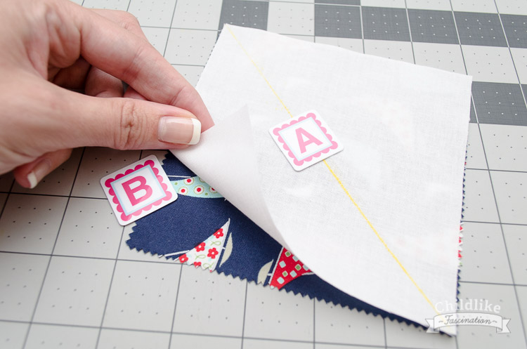 Place the pieces of fabric right sides together