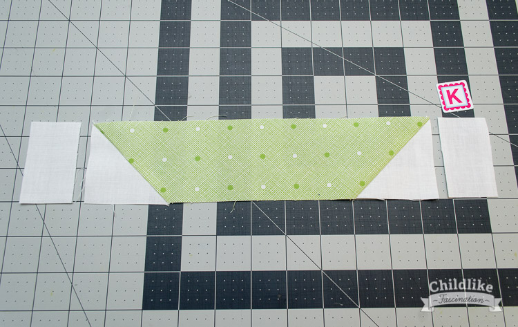 Sew rectangles to sides of hull
