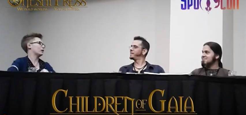 children of gaia panel spocon 2018 lynsey g jayel draco chris covelli