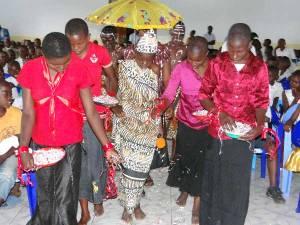 Le roi Mathias Ier à Goma