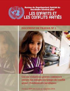 # 1 - Les six violations graves commises envers les enfants en temps de conflit armé