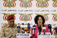 Leila Zerrougui speaks during the ceremony for the signature of the action plan to end recruitment and use of children in Yemen's Government armed forces.  Copyrights: @UNICEF