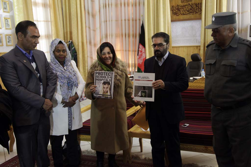 In Herat, Afghanistan, Leila Zerrougui met with authorities and discussed the protection of children affected by the conflict and shared documents produced by her office.