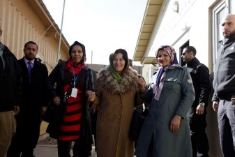 In Herat, Leila Zerrougui visited a child protection unit located in the National Police (ANP) recruitment centre. She heard about its positive impact to prevent underage recruitment. There are currently 6 child protection units in Afghanistan. The Special Representative called for support to set up such units within ANP recruitment centres across the country's 34 provinces. ©United Nations