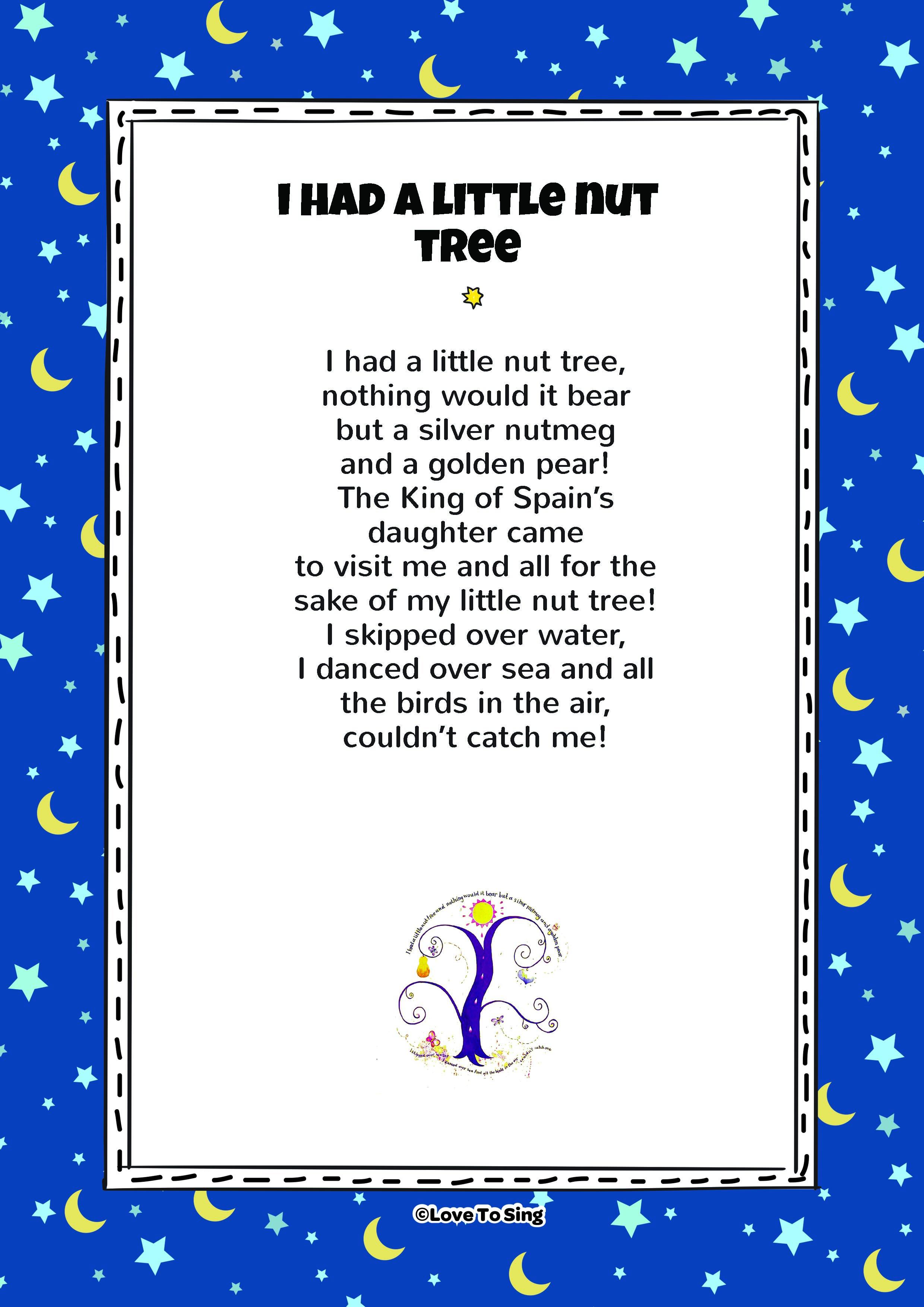 I Had A Little Nut Tree