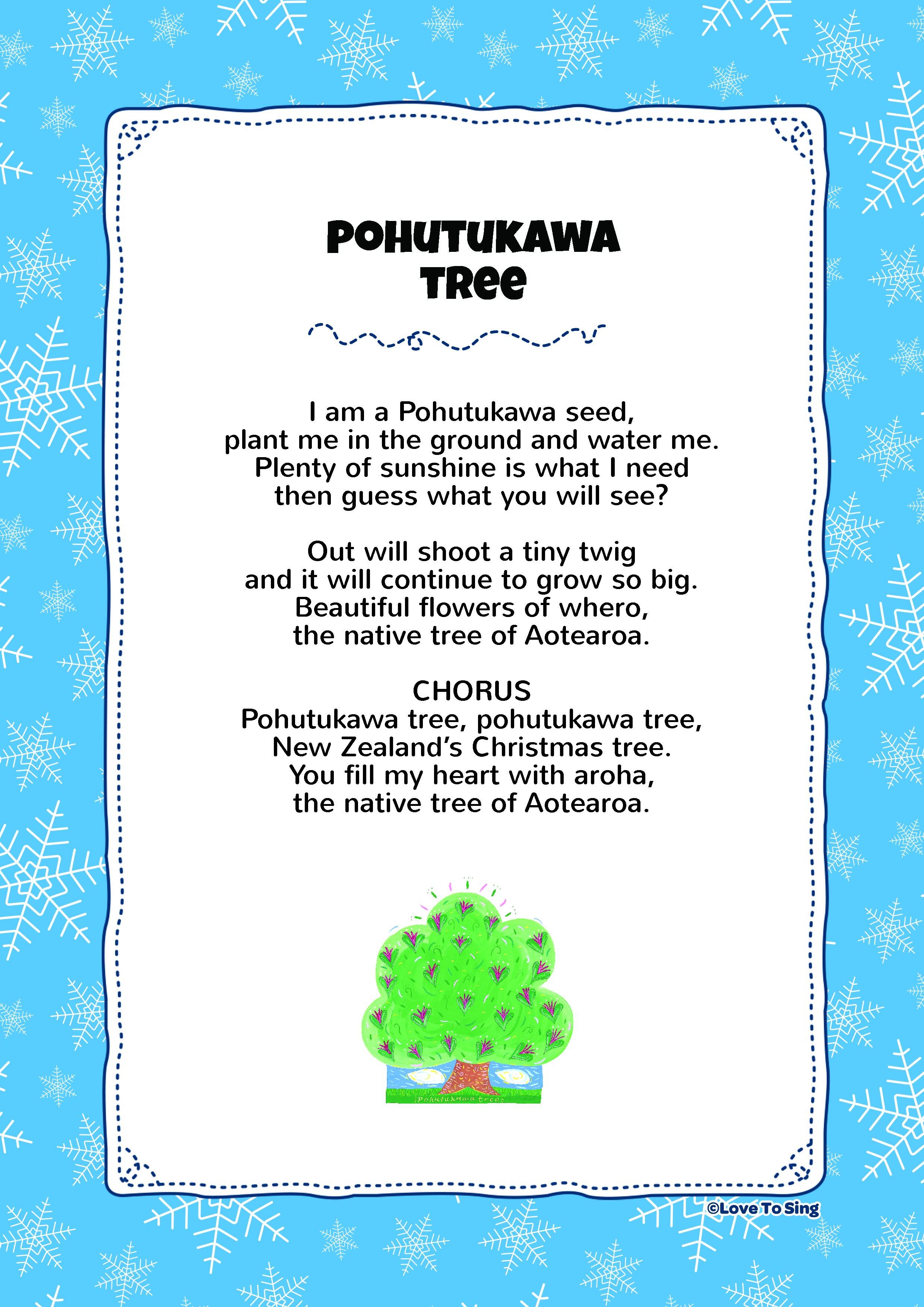Large Print 12 Days Of Christmas Lyrics