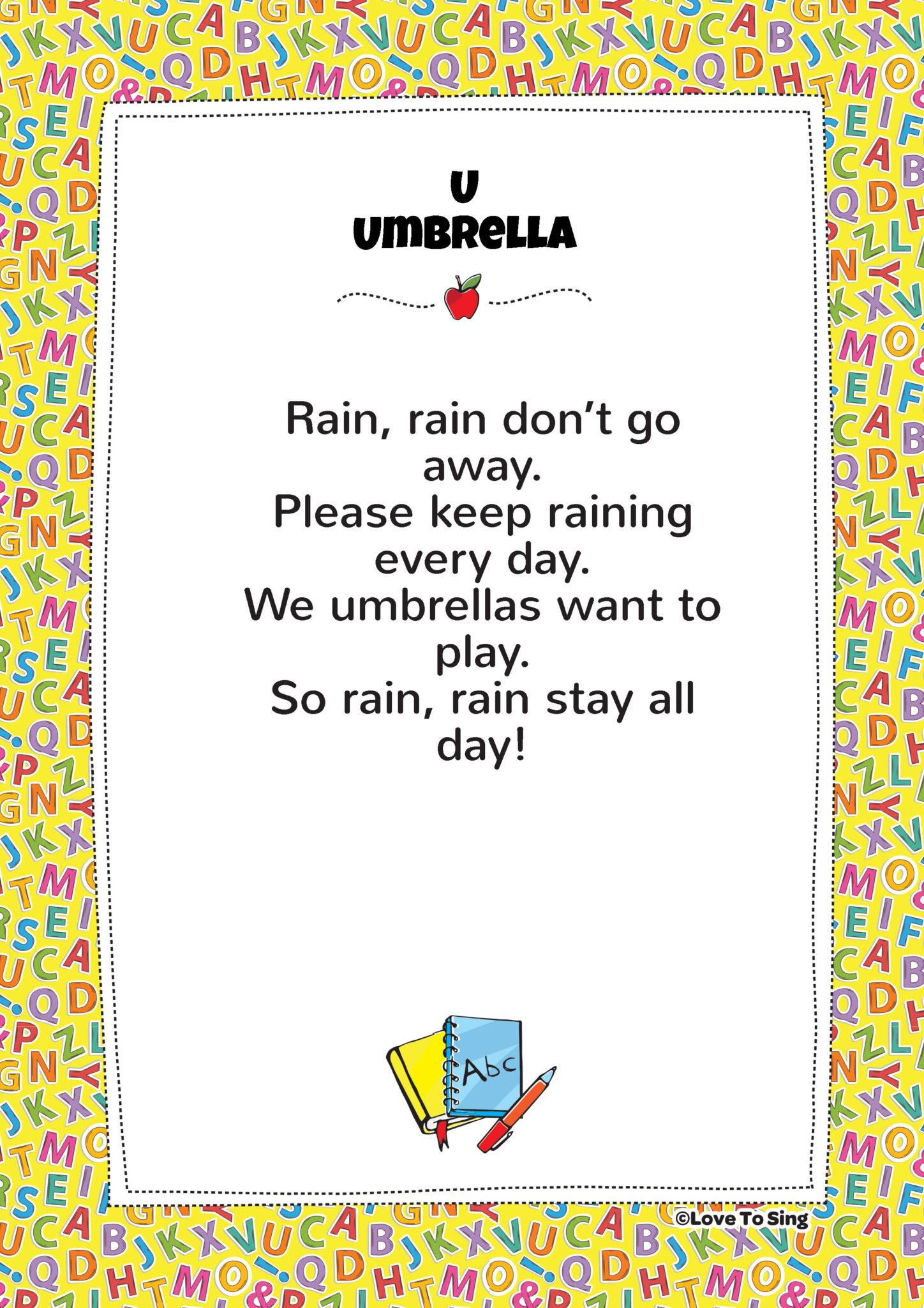 U Umbrella Phonics Song