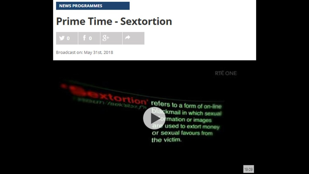 RTE Prime Time Sextortion