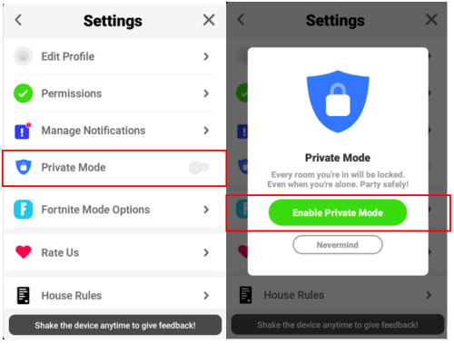 Houseparty-Safety-Settings-Enable-Private-Mode