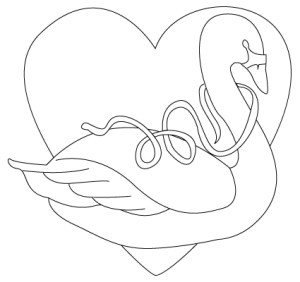 valentine drawing drawings swan coloring heart sheet choco tatto