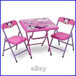 Minnie Table And Chairs Arm Chair Covers Canada Mouse 3pc Bedroom Set Toy Storage Organizer Folding First Bed
