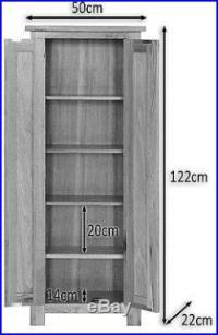 Oak DVD CD Storage Cabinet Solid Wood Cupboard/Rack/Tower ...