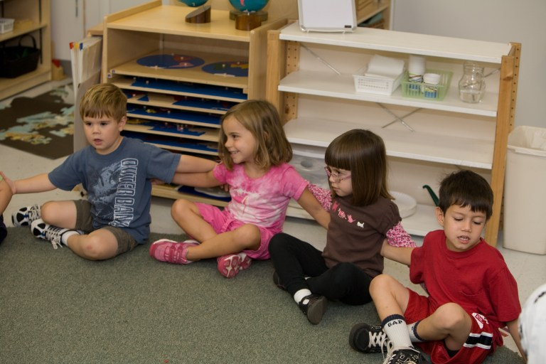 Circle time at Children's House Montessori School of Reston.