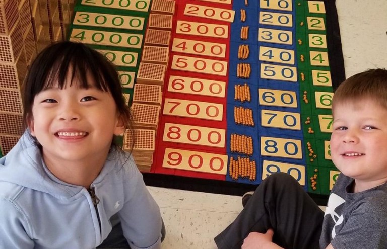 Happy and proud after a good morning's work! What is Montessori?