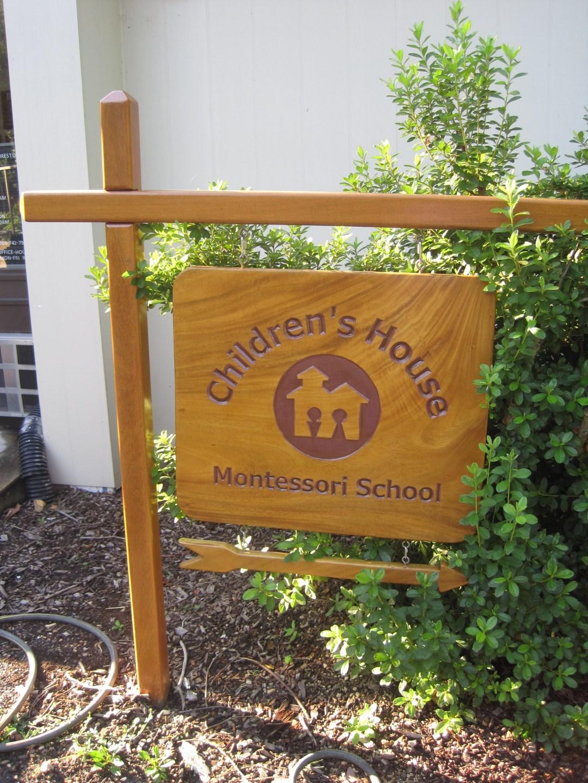 Sign for Children's House Montessori school of REston