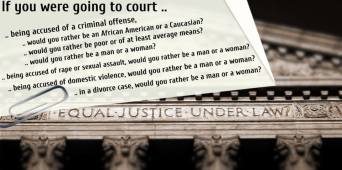 Prejudices & discrimination based on a person's sex, social status, gender or race too often rule in U.S. courtrooms!