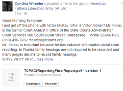 Florida Supreme Court Performance and Accountability Office - CW Post on AFLA - 2015