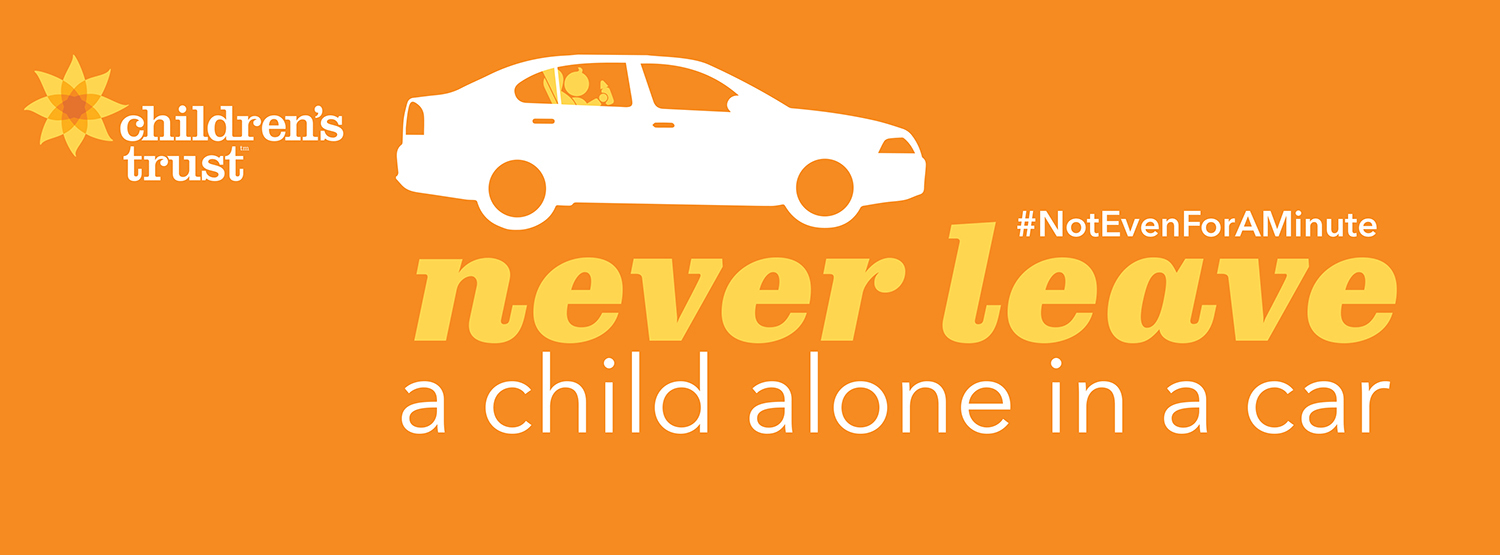 never leave a child alone in a car notevenforaminute