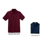 polo- shirt maroon navy
