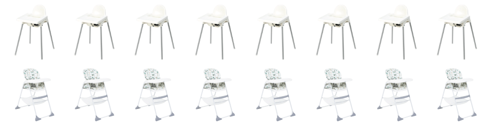 Bulk highchair hire