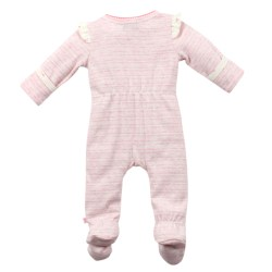 Bebe Lily Frill Long Sleeve Wrap Romper with feet