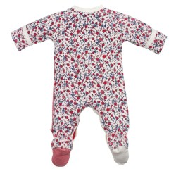 Bebe Anais Long Sleeve Wrap Romper with feet