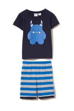 Milky Summer Pyjamas – Blue Monster