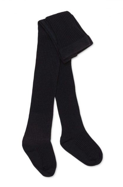 Marquise Navy Knitted Cotton Tights