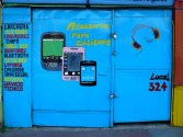 cartel tienda celulares
