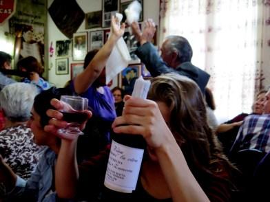 El vino peleón, otro clásico del lugar.