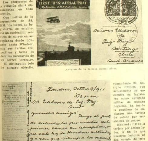 Primeros Correos Aéreos en Chile -1912 – 1920-