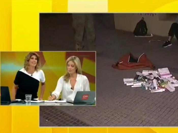 """""""Péguenle"""": Mónica Rincón protagonizó incómodo momento en noticiario"""