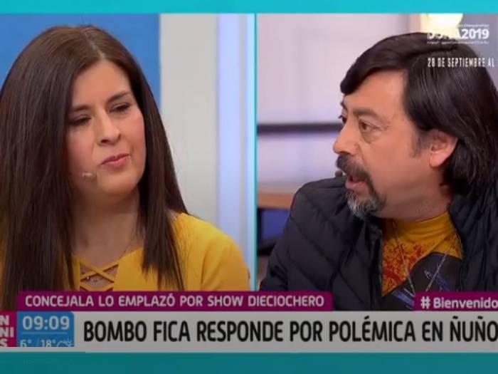 """""""¡La estoy mirando a los ojos!"""": el duro cruce entre Bombo Fica y concejala por show en Ñuñoa"""