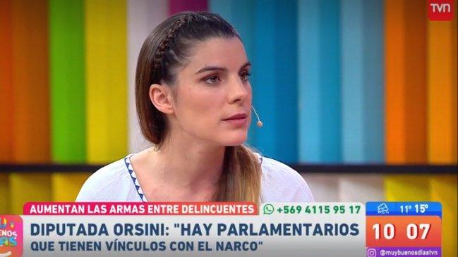 Hay parlamentarios VINCULADOS CON EL NARCOTRAFICO, La dura acusación de Maite Orsini en matinal