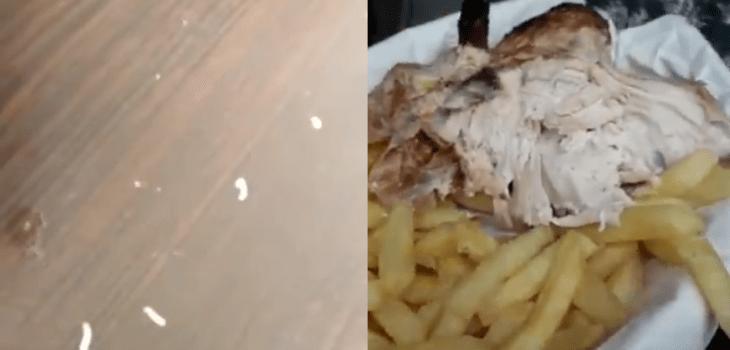 Cliente de conocido restaurant de Antofagasta denunció presencia de gusanos en su comida