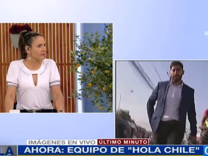 """""""¡Ándate de aquí, loco!"""": encapuchados amenazan en vivo a periodista de Hola Chile (VIDEO)"""