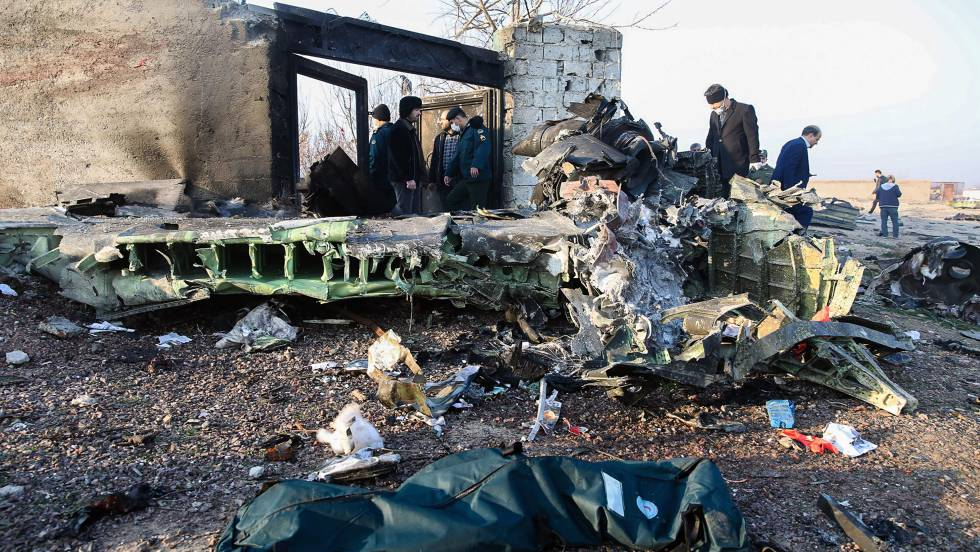 POSIBLE ATAQUE CON AVION CIVIL. Confirman que unas 170 personas murieron en avión ucraniano que se estrelló en Irán